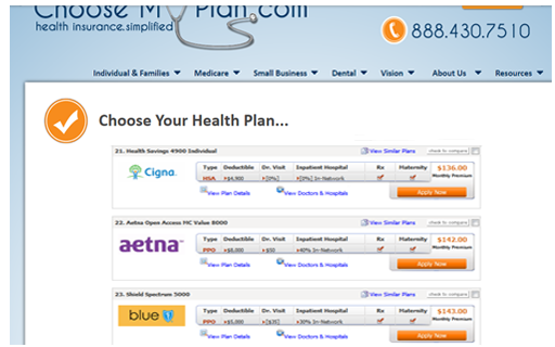 Search Health Insurance Plans